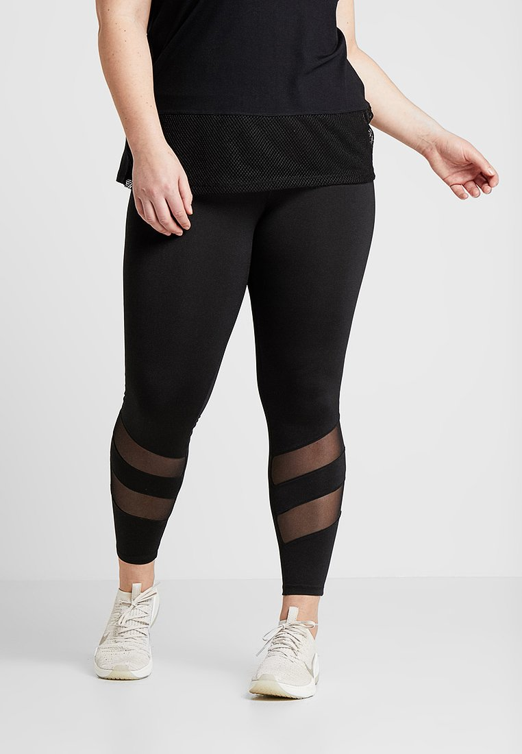 Active by Zizzi - ABELARUS ANCLE PANTS - Trikoot - black