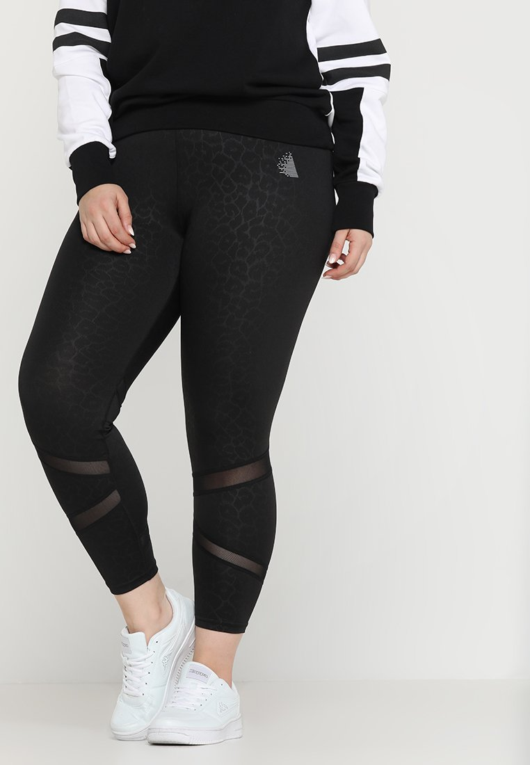 Active by Zizzi - ABLACK LEO 7/8 PANT - Tights - black