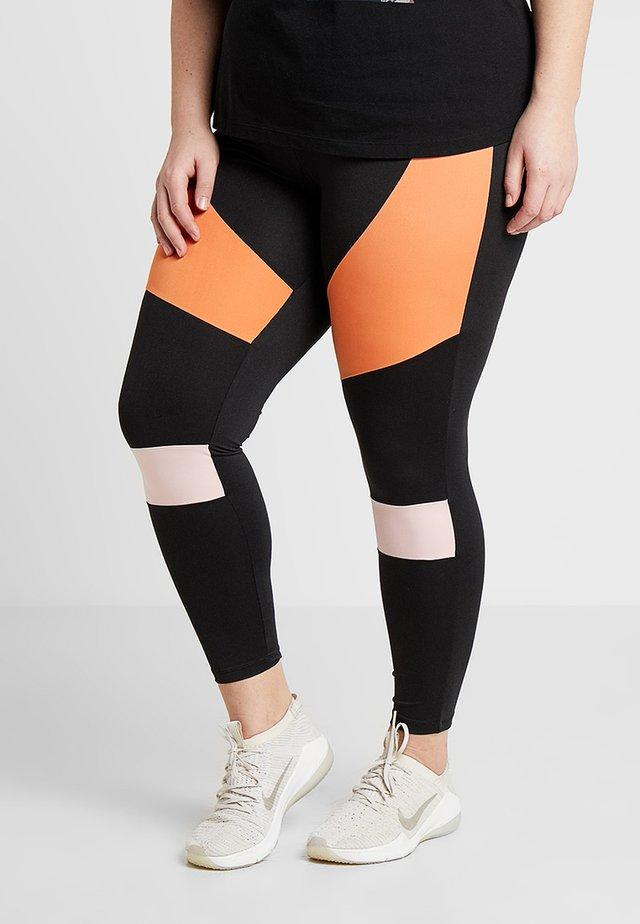 ACOLOR ANCLE PANT - Leggings - black