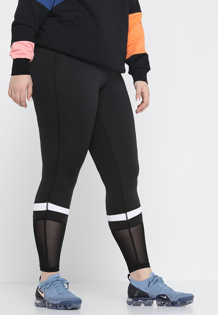 Active by Zizzi - ADOWN LONG PANT - Tights - black/white