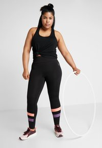 Active by Zizzi - ACLAUDIA KNICKERS - Tights - black - 1