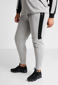 Active by Zizzi - AEXHALE LONG PANT - Pantaloni sportivi - grey melange - 0