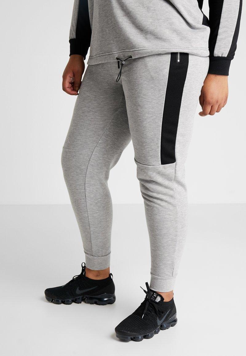 Active by Zizzi - AEXHALE LONG PANT - Pantaloni sportivi - grey melange