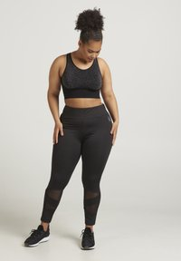 Active by Zizzi - ABAGUIO ANCLE PANTS - Legging - black - 0
