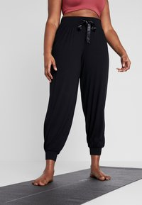 Active by Zizzi - ABETONY PANT - Tracksuit bottoms - black - 0