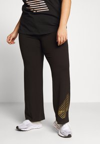 Active by Zizzi - AMOLIS LONG PANT - Pantalon de survêtement - black - 0