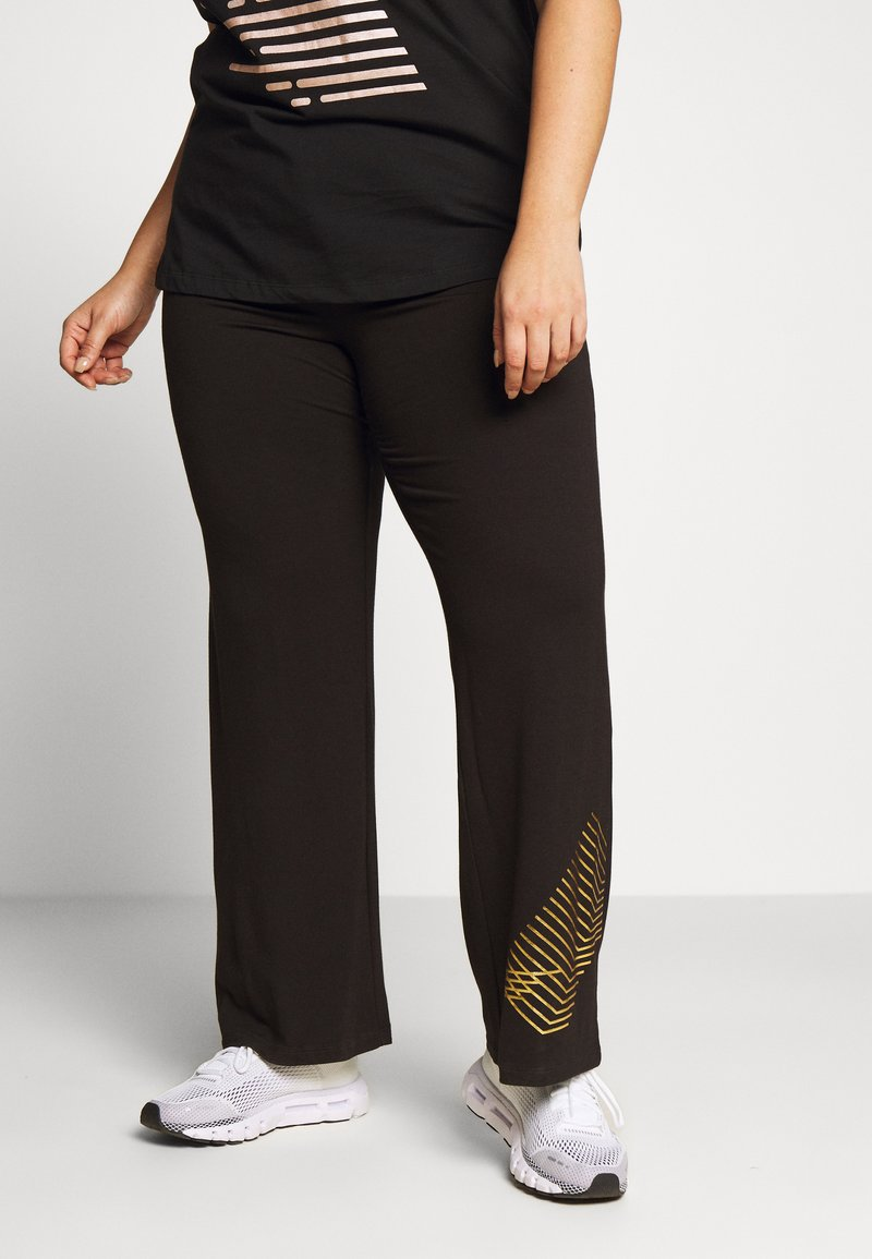 Active by Zizzi - AMOLIS LONG PANT - Pantalon de survêtement - black