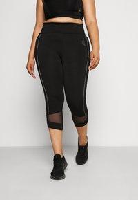 Active by Zizzi - ALURA KNICKERS - 3/4 sportovní kalhoty - black - 0