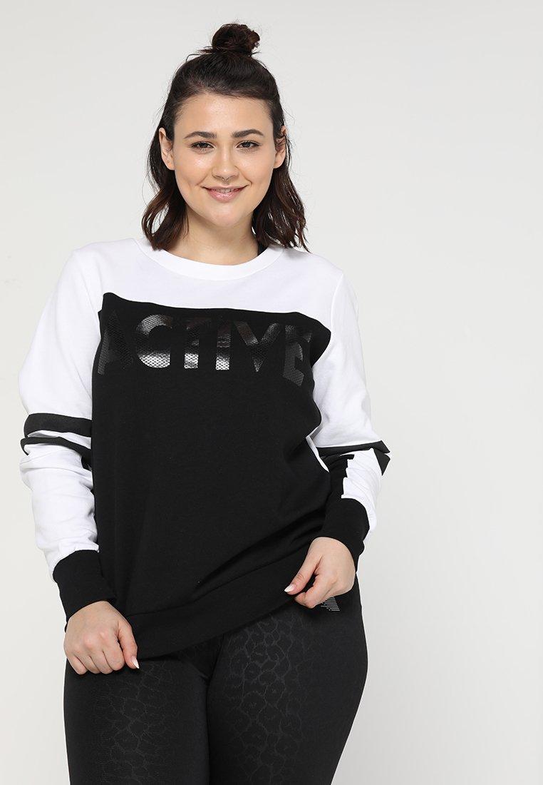 Active by Zizzi - ACOLLEGE - Sweatshirts - black