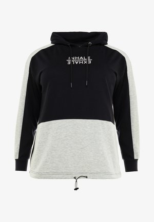 AEXHALE HOODIE - Jersey con capucha - black
