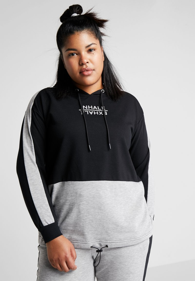 Active by Zizzi - AEXHALE HOODIE - Bluza z kapturem - black