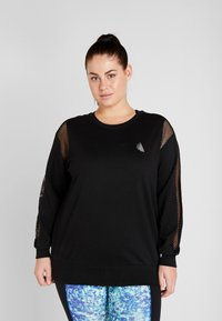 Active by Zizzi - AISABELLE - Sweatshirt - black - 0