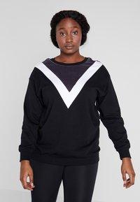 Active by Zizzi - ASEFIKA - Sweatshirt - black comb - 0
