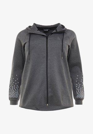 ALINDA CARDIGAN - Sportovní bunda - dark grey melange