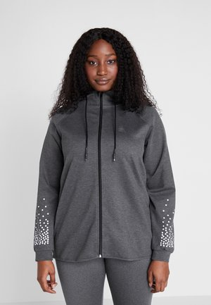 ALINDA CARDIGAN - Veste de survêtement - dark grey melange
