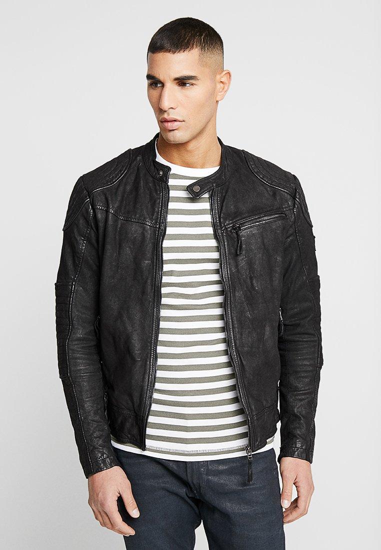 ACT - ITALY DAK - Leather jacket - black