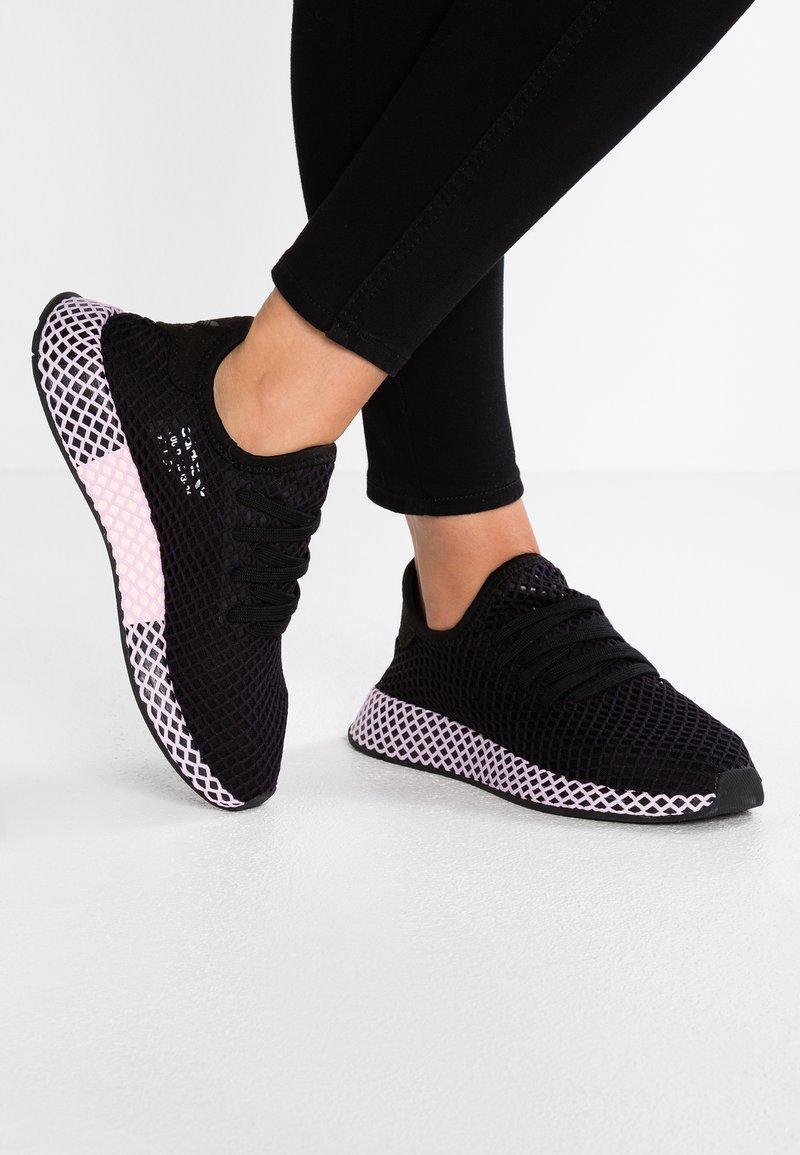 adidas Originals - DEERUPT - Baskets basses - core black/clear lila
