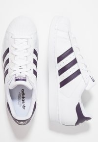 adidas Originals - SUPERSTAR - Sneakers - footwear white/legend purple - 3