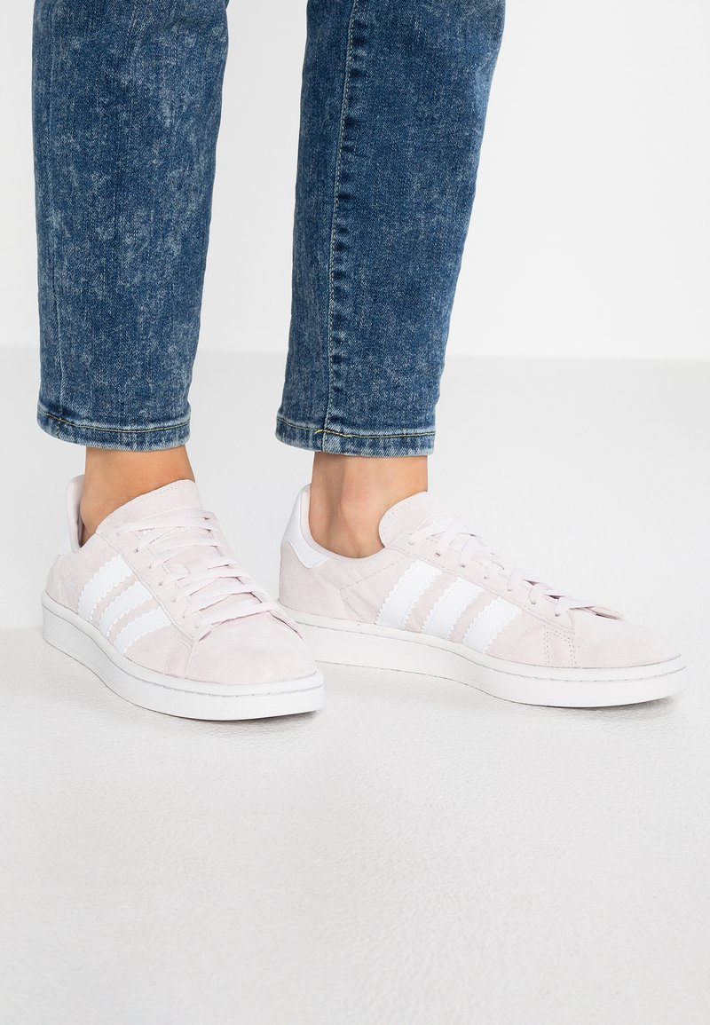 adidas Originals - CAMPUS - Trainers - orchid tint/footwear white/crystal white