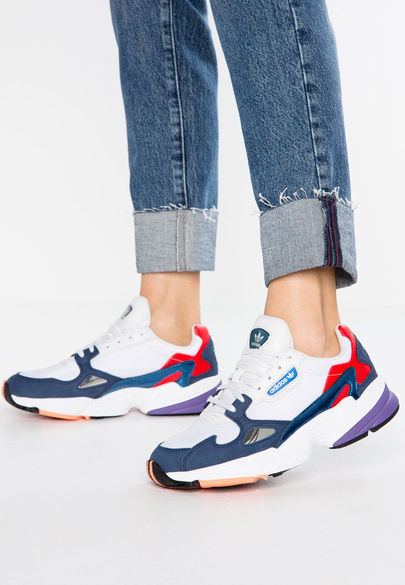 adidas Originals - FALCON - Trainers - crystal white/core navy