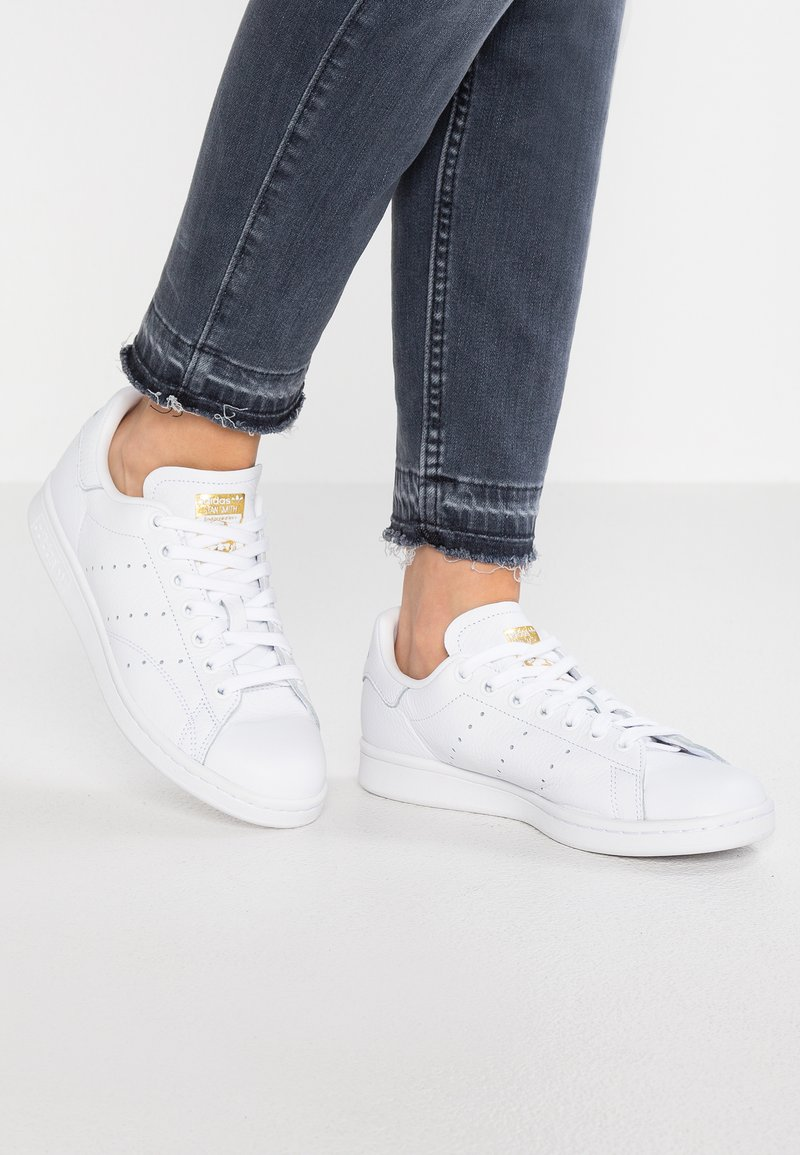 adidas Originals - STAN SMITH - Trainers - footwear white/real lilac/raw gold