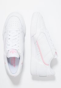 adidas Originals - CONTINENTAL 80 - Sneakersy niskie - footwear white/true pink/clear pink - 5