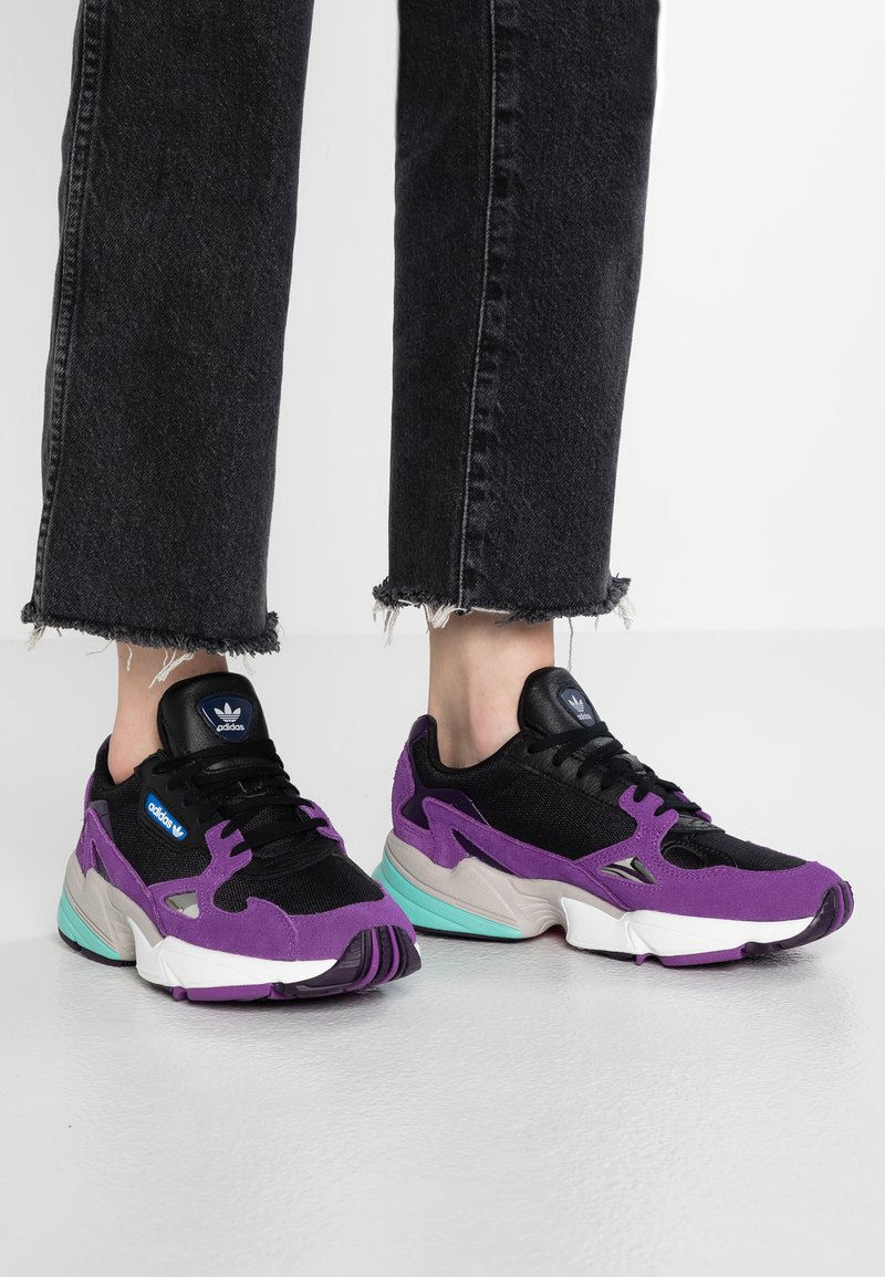 adidas Originals - FALCON - Sneakers - footwear white/active purple