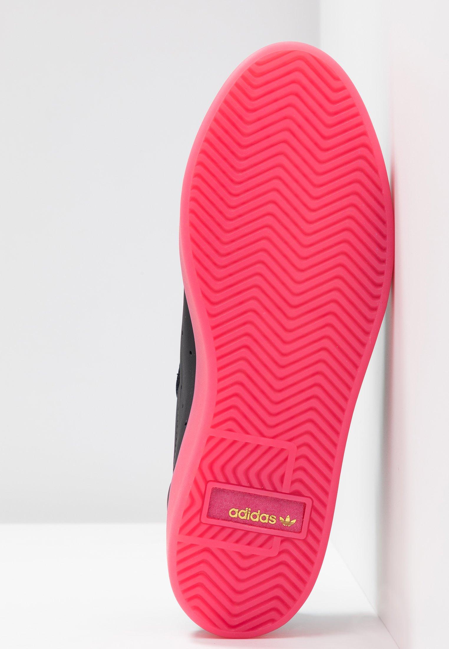 adidas Originals SLEEK - Sneakersy niskie - core black/super pink