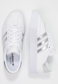 adidas Originals - SAMBAROSE - Joggesko - footwear white/silver metallic/core black - 3