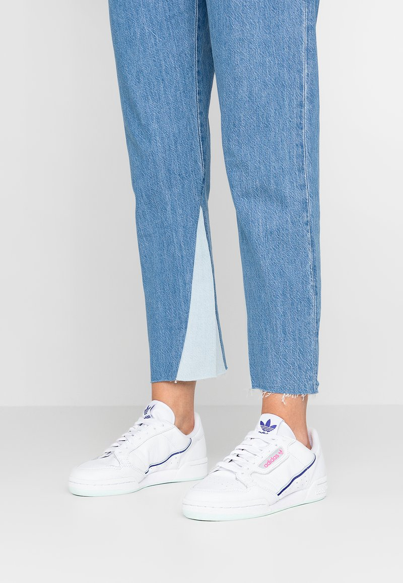 adidas Originals - CONTINENTAL 80 - Sneaker low - footwear white/ice mint/active blue