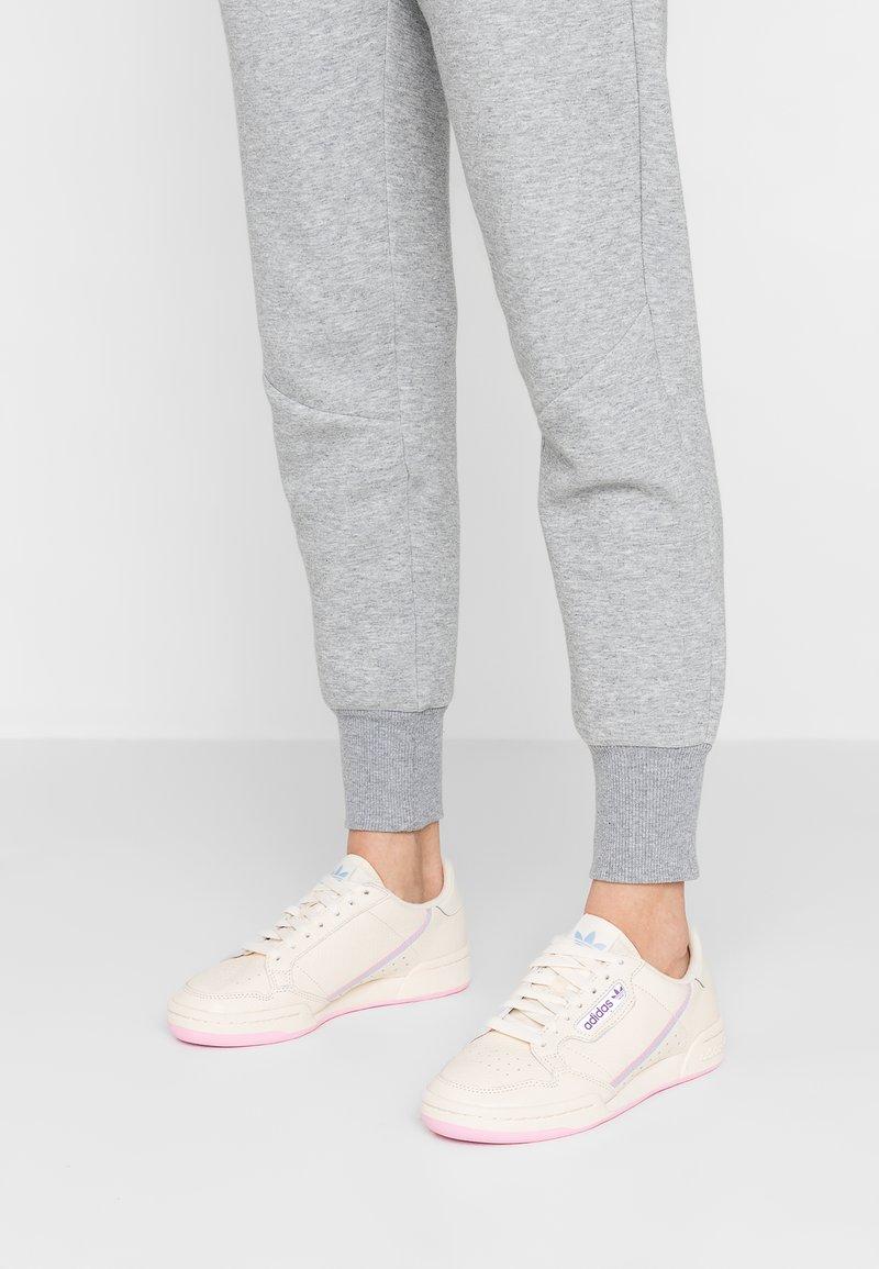 adidas Originals - CONTINENTAL 80 - Sneakers basse - ecru tint/true pink/periwinkle