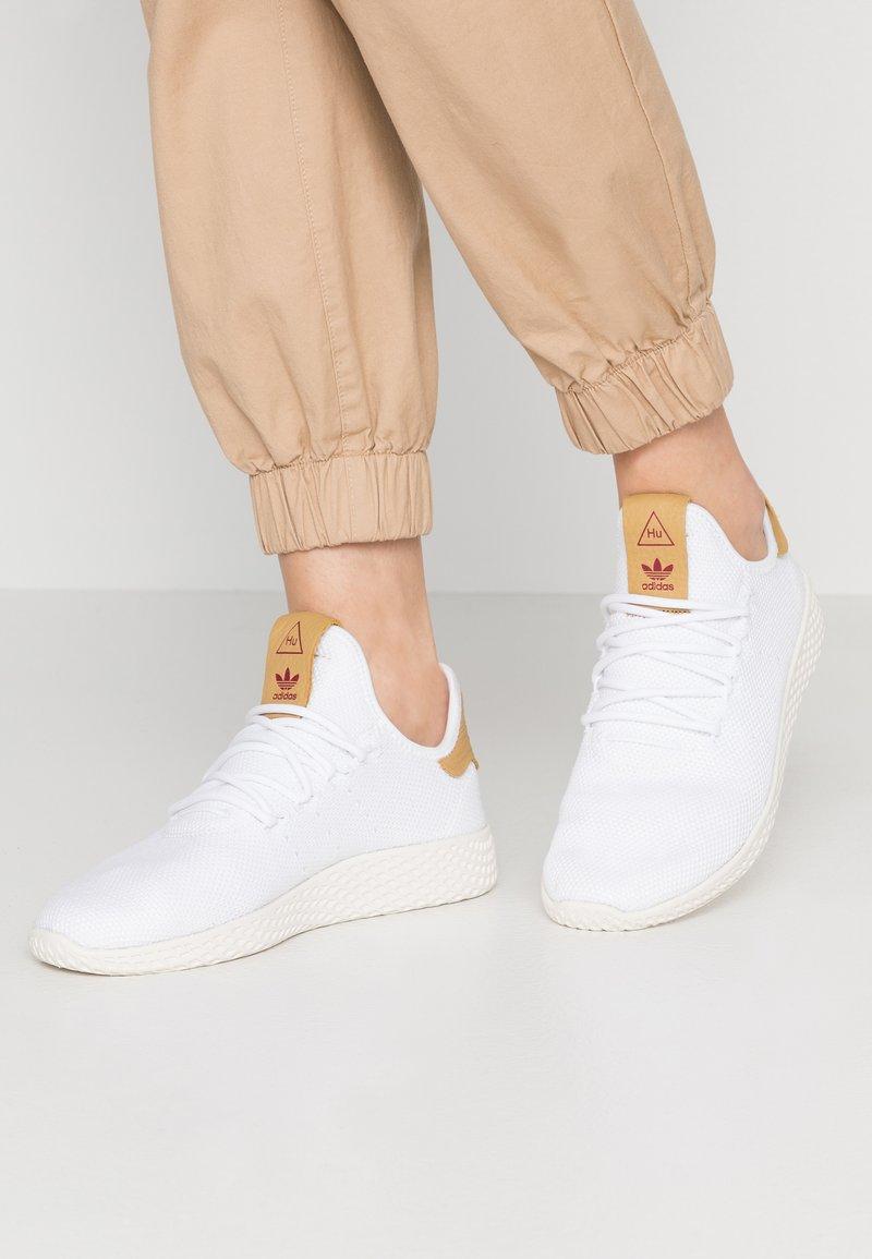 adidas Originals - PW TENNIS HU - Trainers - footwear white/raw sand