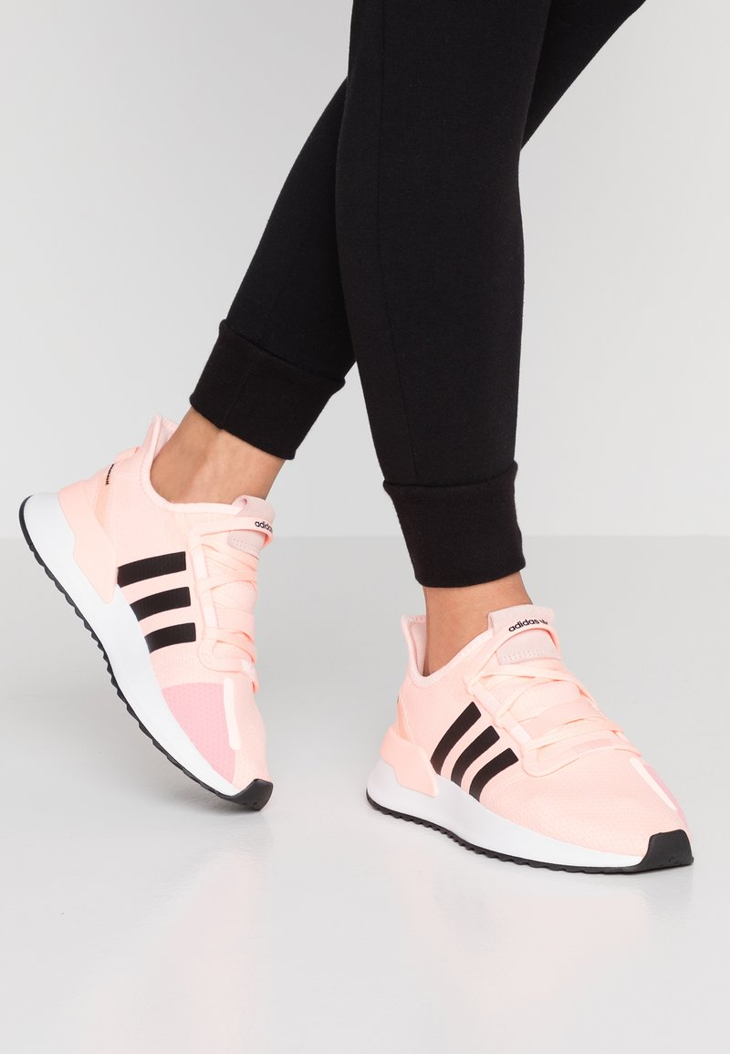 adidas Originals - PATH RUN  - Trainers - clear orange/core black/footwear white
