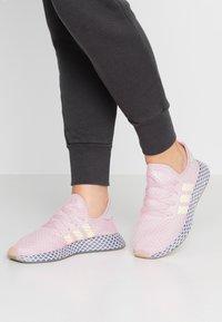 adidas Originals - DEERUPT RUNNER  - Trainers - clear pink/hi-res yellow/raw steel - 0
