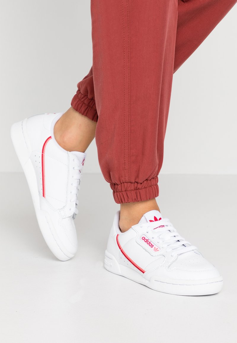 adidas Originals - CONTINENTAL 80 - Sneaker low - footwear white/scarlet/flash red