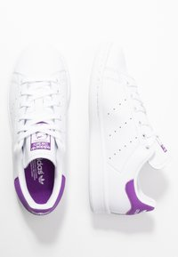 adidas Originals - STAN SMITH - Baskets basses - footwear white/active purple - 3