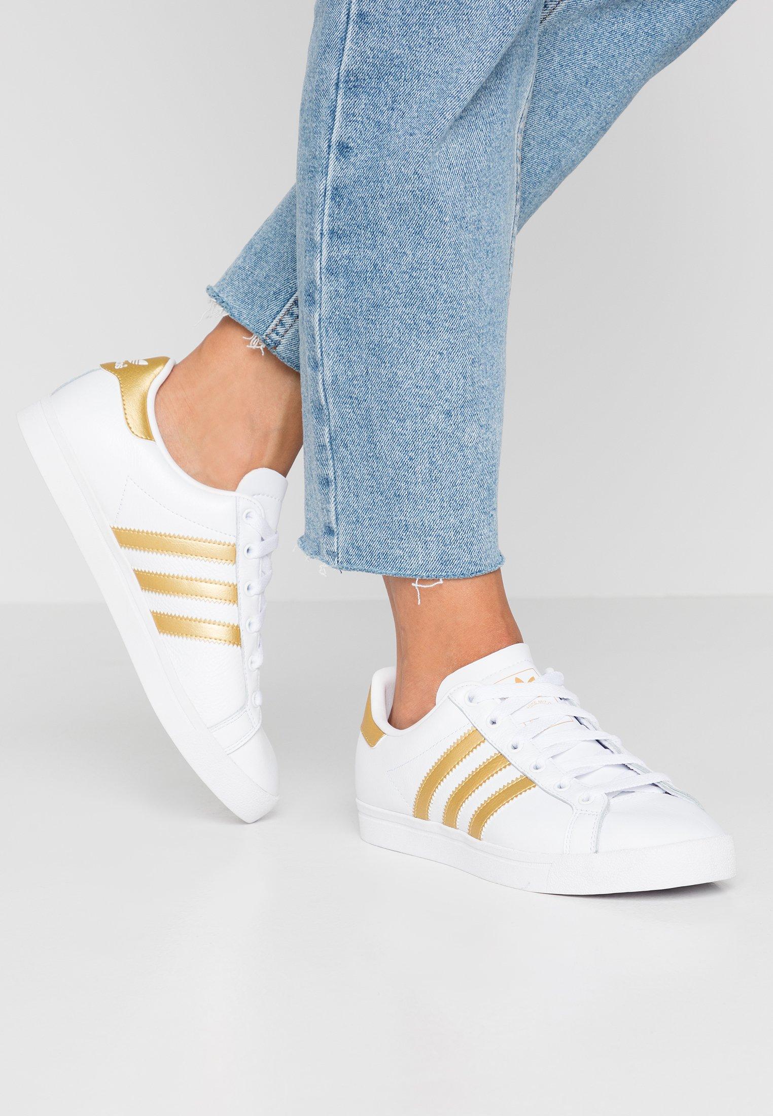 Adidas Originals StarBaskets Black Coast Basses gold core White Metallic Footwear JT13KlFc