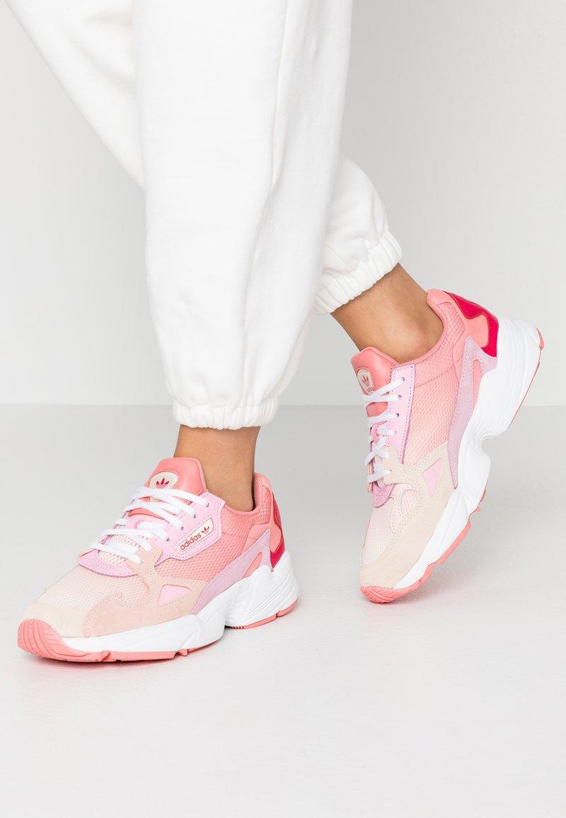 adidas Originals - FALCON - Trainers - ecru tint/ice pink/true pink