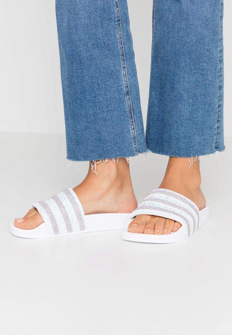adidas Originals - ADILETTE  - Sandaler - footwear white/light granite