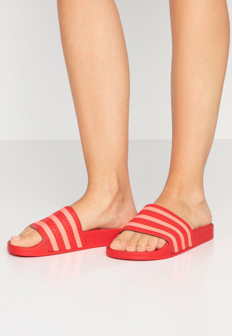 adidas Originals - ADILETTE - Sandaler - scarlet/flash red
