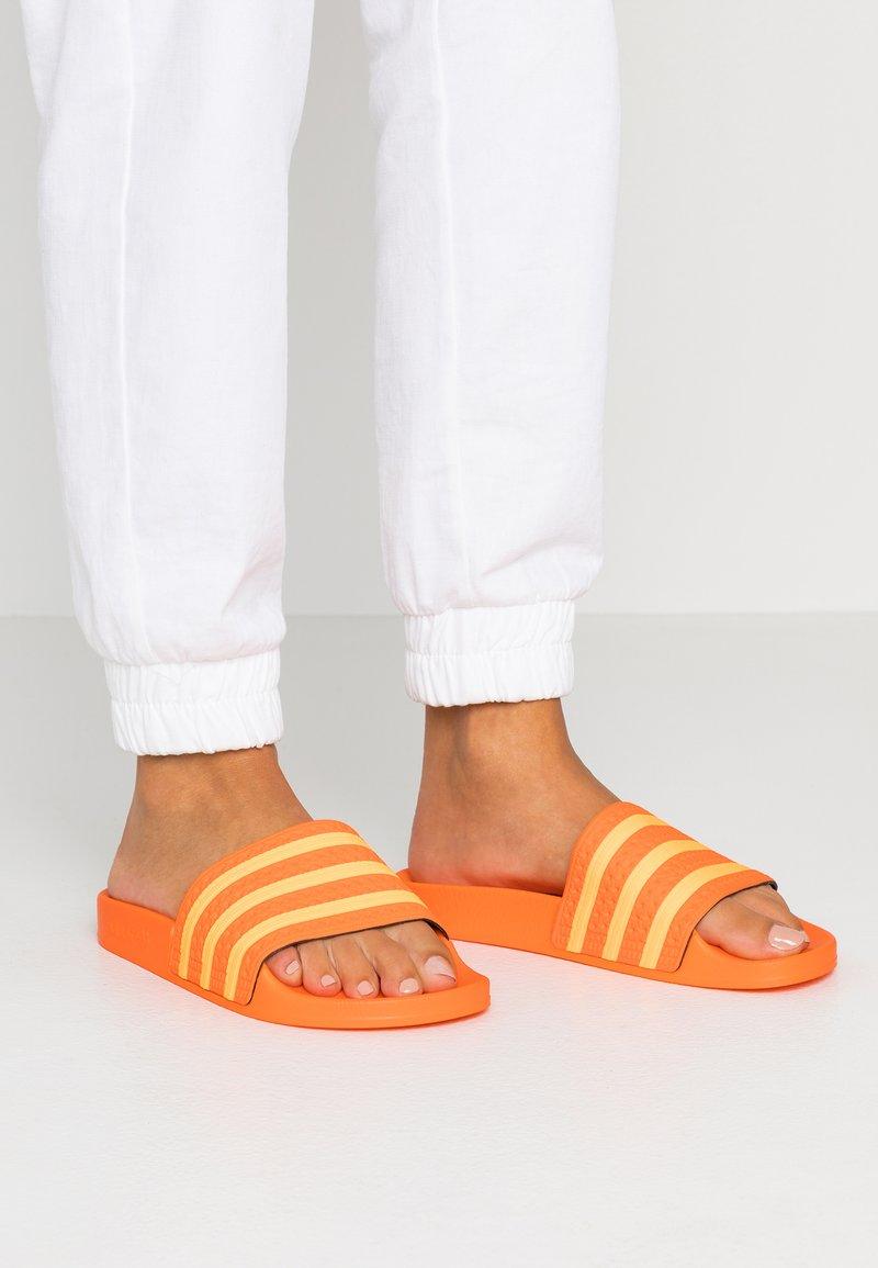 adidas Originals - ADILETTE - Mules - orange/flash orange