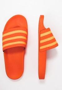 adidas Originals - ADILETTE - Mules - orange/flash orange - 3