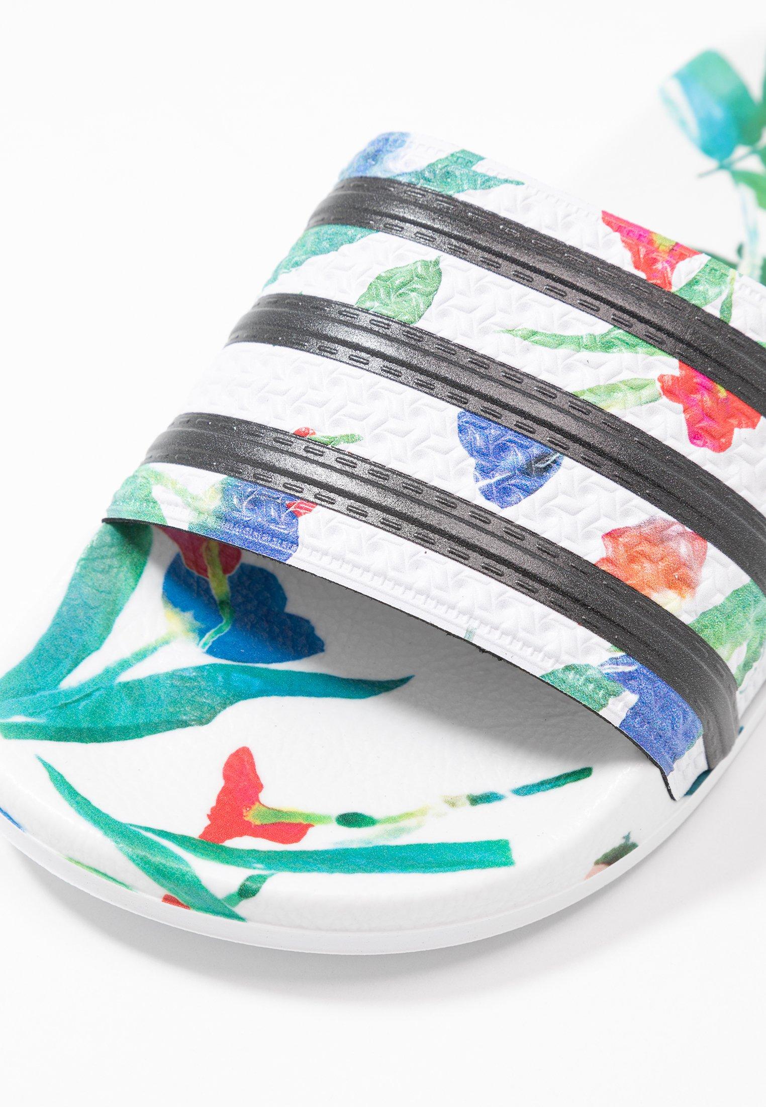 Adidas Originals AdiletteMules White Black Footwear core RjSc345ALq