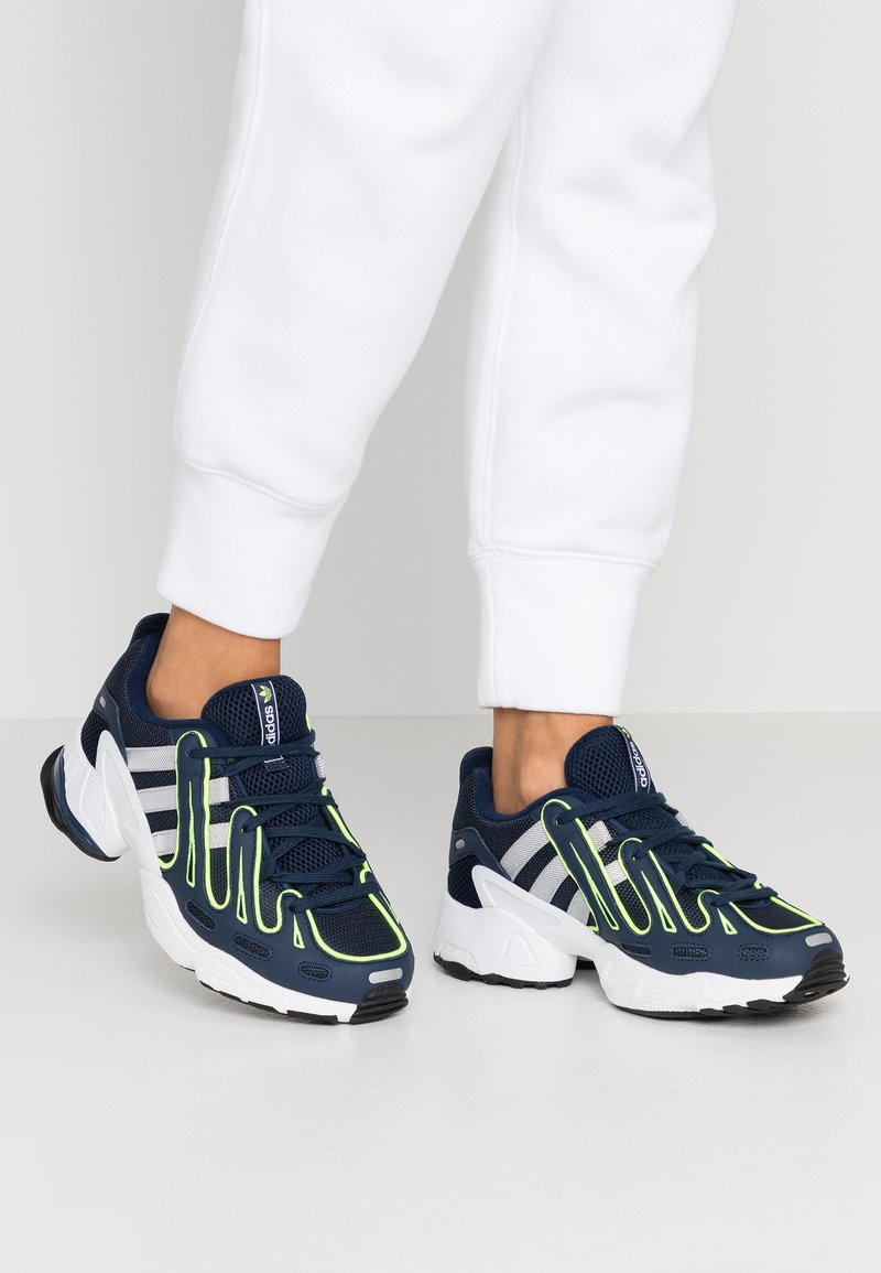adidas Originals - EQT GAZELLE - Sneakers - collegiate navy/silver metallic/solar yellow