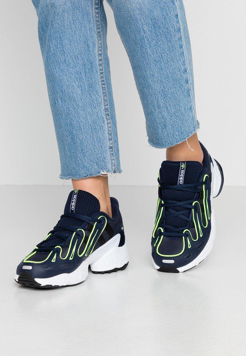 adidas Originals - EQT GAZELLE - Sneaker low - collegiate navy/silver metallic/solar yellow