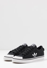 adidas Originals - NIZZA TREFOIL - Trainers - clear black/footwear white/crystal white - 4