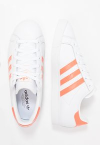 adidas Originals - COAST STAR STREETWEAR-STYLE SHOES - Tenisky - footwear white/semi coral - 3