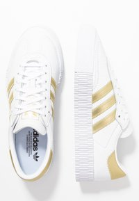 adidas Originals - SAMBAROSE - Sneakers laag - footwear white/gold metallic - 3