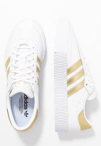 adidas Originals - SAMBAROSE - Trainers - footwear white/gold metallic - 3