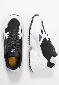 adidas Originals - FALCON TRAIL - Trainers - core black/footwear white - 5